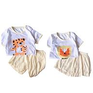 Đồ bộ cộc tay cho bé trai và bé gái chất cotton giấy màu QATE500 701 , quần áo trẻ em cho bé sơ sinh đến 15kg thumbnail