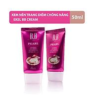 Kem nền trang điểm Ekel BB Cream Ngọc Trai chính hãng Hàn Quốc giúp che khuyết điểm, chống lại tia cực tím cải thiện độ mịn da làm mờ nếp nhăn thumbnail