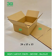 BỘ 50 HỘP CARTON TRƠN NẮP THƯỜNG 20x15x15 - 3HNT0502 thumbnail