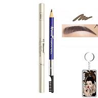 Chì vẽ mày sắc nét Aroma Eyebrow Pencil Hàn Quốc No.44 Gray Brown tặng kèm móc khoá thumbnail