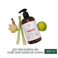 Sữa tắm dưỡng ẩm chiết xuất gừng sả chanh 500ml thumbnail