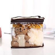 Set bông tắm hình gấu ( bao gồm bông tắm, túi đựng, bọt biển và chú gấu, đá kì) thumbnail