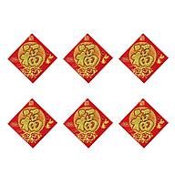 Combo 6 Decal Giấy Nhung Đỏ Chữ Vàng Kim Tuyến Dán Trang Trí Nhà Cửa, Bàn Thờ, Trái Cây Loại Trung thumbnail