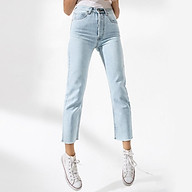 TheBlueTshirt - Raw Hem Jeans Dim Wash - Quần Jeans Ống Vừa Xanh Nhạt thumbnail