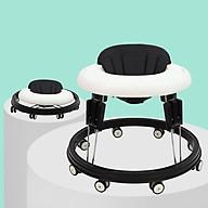 Xe Tập Đi Hình Tròn Cao Cấp Cho Bé Tích Hợp Khay Ăn Dặm Rộng Rãi, Bánh Xe Quay 360 Độ, Gấp Gọn Dễ Dàng - Hàng chính hãng thumbnail