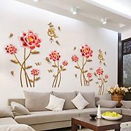 Decal dán tường hoa pha lê màu hồng SK9271 thumbnail