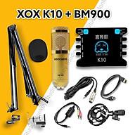 Bộ Mic Hát Livestream Soundcard XOX K10 & Mic BM900 Chất Lượng Cao, Âm Thanh Cực Kỳ Sống Động - Hàng Chính Hãng thumbnail