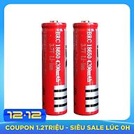 Combo 2 Pin lithium dung lượng cao 18650 3.7V 4800mAh - Hàng nhập khẩu thumbnail