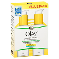 Olay Complete Defence SPF 30+ Sensitive 75ml Twin Pack thumbnail