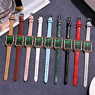 Đồng hồ nữ Kasawi k88 thời trang Hàn Quốc đồng hồ nữ hình chữ nhật dây da nhỏ gọn không thấm nước thumbnail