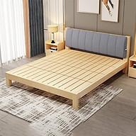 Giường gỗ thông hiện đại 1m8 x 2m (kèm đệm tựa lưng) thumbnail