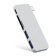 Thiết bị chuyển đổi HUB USB 3.0 PD SD TF 5 trong 1 OCTech TC5100 - Hàng chính hãng thumbnail