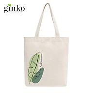 Túi Tote Vải Mộc GINKO Dây Kéo In Hình Banana Leaf M12 thumbnail