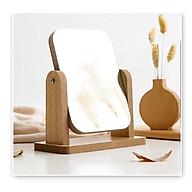 Gương trang điểm cao cấp chất liệu gỗ ép, điều chỉnh góc nhìn 360 độ loại lớn thumbnail