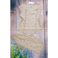 Đồ bộ nữ cộc tay - Đồ bộ mặc nhà - Đồ ngủ mặc nhà nữ - Đồ bộ nữ lửng - Set bộ đũi mặc nhà nữ Vicci BDT.02 áo tay hến quần lửng phối hoạ tiết thumbnail