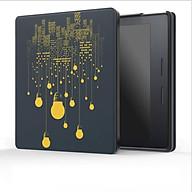 Bao Da cho Máy Đọc Sách Kindle Oasis (9th) - Hình Bóng đèn thumbnail