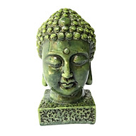 Tượng đá đầu phật thích ca - cao 9cm - đá màu xanh thumbnail