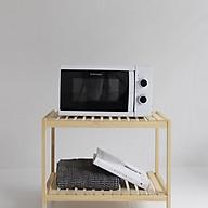 Kệ lò vi sóng gỗ thông - Kệ để đồ dùng nhà bếp thumbnail