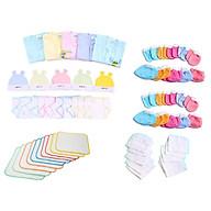 combo 50 món cho bé sơ sinh(5 áo tay dai ,10 tã, 5 nón,10 bao tay,10 bao chân,5 lót,5khăn) thumbnail
