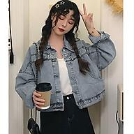 Áo khoác jeans nữ dáng lửng ArcticHunter, thời trang trẻ, thương hiệu chính hãng thumbnail