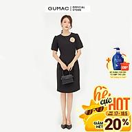 Đầm dáng ôm nữ thiết kế xếp ly eo kết hợp phụ kiện GUMAC DB571 thumbnail