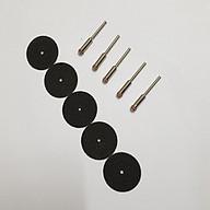 5 đá cắt kim loại mini chân cán 2mm hoặc 3mm (5 đĩa cắt dây dây gai + 5 trục gắn đĩa cắt chân cán 3ly) lưỡi cắt sắt mini thumbnail