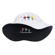 Mũ bucket tai bèo thêu hình 3 que kem Good Morning, đội được 2 mặt với 2 màu khác nhau độc đáo - Hạnh Dương thumbnail