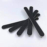 Set 5 cây dũa móng tay, dũa móng bột chuyên dụng - 2 mặt giấy nhám đen có độ nhám 100 100 thumbnail
