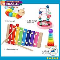 Combo 4 món đồ chơi gỗ cao cấp an toàn cho bé thumbnail