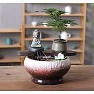 Thác Nước Phong Thủy Chậu Tròn Đá Thiền thumbnail