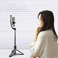Gậy chụp ảnh tự sướng Selfiecom L07 có đèn led 3 chế độ - Tích hợp tripod và remote bluetooth chụp từ xa, hỗ trợ livestream hiệu quả - Hàng chính hãng thumbnail