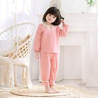 Bộ đồ mặc nhà cho bé gái FreeShip bộ đồ mặc nhà mùa xuân thu từ 1-10 tuổi đáng yêu chất liệu vải thô cara thấm hút mồ thumbnail