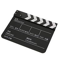 Black Acrylic Clapper Board Clapboard Slate for Video TV Movie Film thumbnail