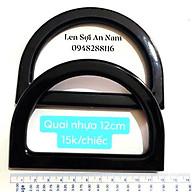 Quai Nhựa Đen 12cm - Quai túi xách thumbnail