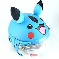 Mũ bảo hiểm trẻ em hình pikachu có tai siêu dễ thương nhiều màu thumbnail