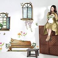 decal dán tường luvina cửa sổ đôi và ghế băng ay939 thumbnail