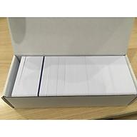 Hộp 250 thẻ nhựa PVC trắng - Thẻ cán bóng chưa in - Chuẩn CR80 - Có bao bọc chống bụi, in tốt trên máy in thẻ nhựa trực tiếp, gián tiếp - Độ dày thẻ tiêu chuẩn 0.76 mm thumbnail