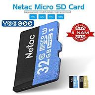 Thẻ Nhớ Netac 32GB U1 Micro SDHC Dùng Cho Camera Yoosee Hàng xịn thumbnail