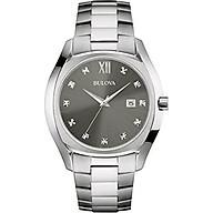 Bulova Men s Quartz Stainless Steel Dress Watch, - Silver-Toned (Model 96D122) thumbnail