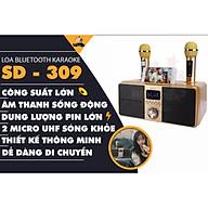 Loa karaoke bluetooth SD 309 - Loa mắt cú cao cấp nhất - Tặng kèm 2 micro không dây có màn hình LCD - Sạc pin cho micro ngay trên loa - Chỉnh bass treble echo ngay trên micro - Loa xách tay du lịch bass đôi cực chất - Màu ngẫu nhiên - Hàng chính hãng thumbnail