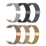 Milanese Stainless Watch Band Metal Magnetic Wrist Strap Watchband Replacement for Huami GTR 42MM Garmin Vivoactive 3 Forerunner245 Ticwatch C2 Samsung Gear Sport R600 Bracelet LIV thumbnail