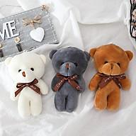 Gấu bông cute, teddy mini dễ thương làm móc khóa trang trí cho balo, túi xách - Màu ngẫu nhiên thumbnail