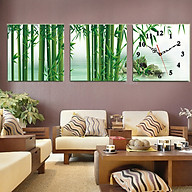 Tranh treo tường, tranh đồng hồ NT122 bộ 3 tấm ghép thumbnail