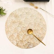 Lót bàn ăn hoa nhiều cánh vàng A26 thumbnail