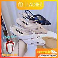 Dép Sục Nữ Mũi Nhọn Thời Trang Cao Cấp Ladiez, Giày Quai Đan Thoáng Khí Êm Chân Đế Bệt Xinh Xắn Siêu Đẹp thumbnail