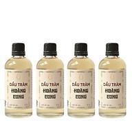 Bộ 4 chai Dầu tràm cho bé - dầu tràm Hoàng Cung 50ml (chai thủy tinh) thumbnail