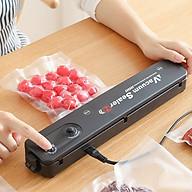 Máy hàn miệng túi hút chân không thực phẩm để bàn nhà bếp nhanh, chính xác đa năng cao cấp QF08 (Tặng 2 móc dán tường 3D- Giao ngẫu nhiên) thumbnail