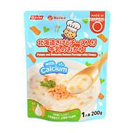Cháo tươi Meiwa vị khoai tây, cá hồi hokkaido, phô mai cho bé từ 12 tháng tuổi thumbnail