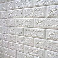 Xốp dán tường combo 15 tấm màu trắng gạch 3D thumbnail