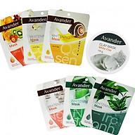 Combo 7 mặt nạ Avander 1 hũ mặt nạ đất sét trắng + 6 Mặt na giấy (Trà Xanh, Ngọc Trai, Nha đam, Trái cây, Ốc sên, collagen) thumbnail